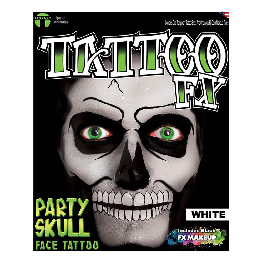 Tattoo FX White Party Skull