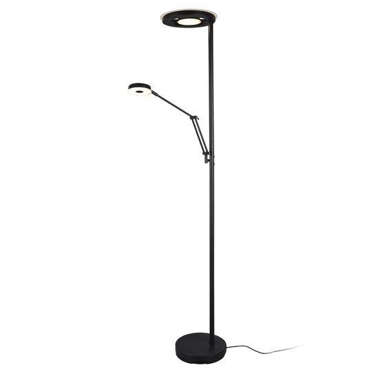 LED-uplight Barrie med leselampe, matt svart