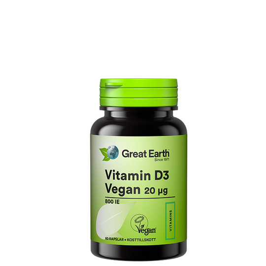 D-Vitamin vegan 20 mcg, 60 kapslar