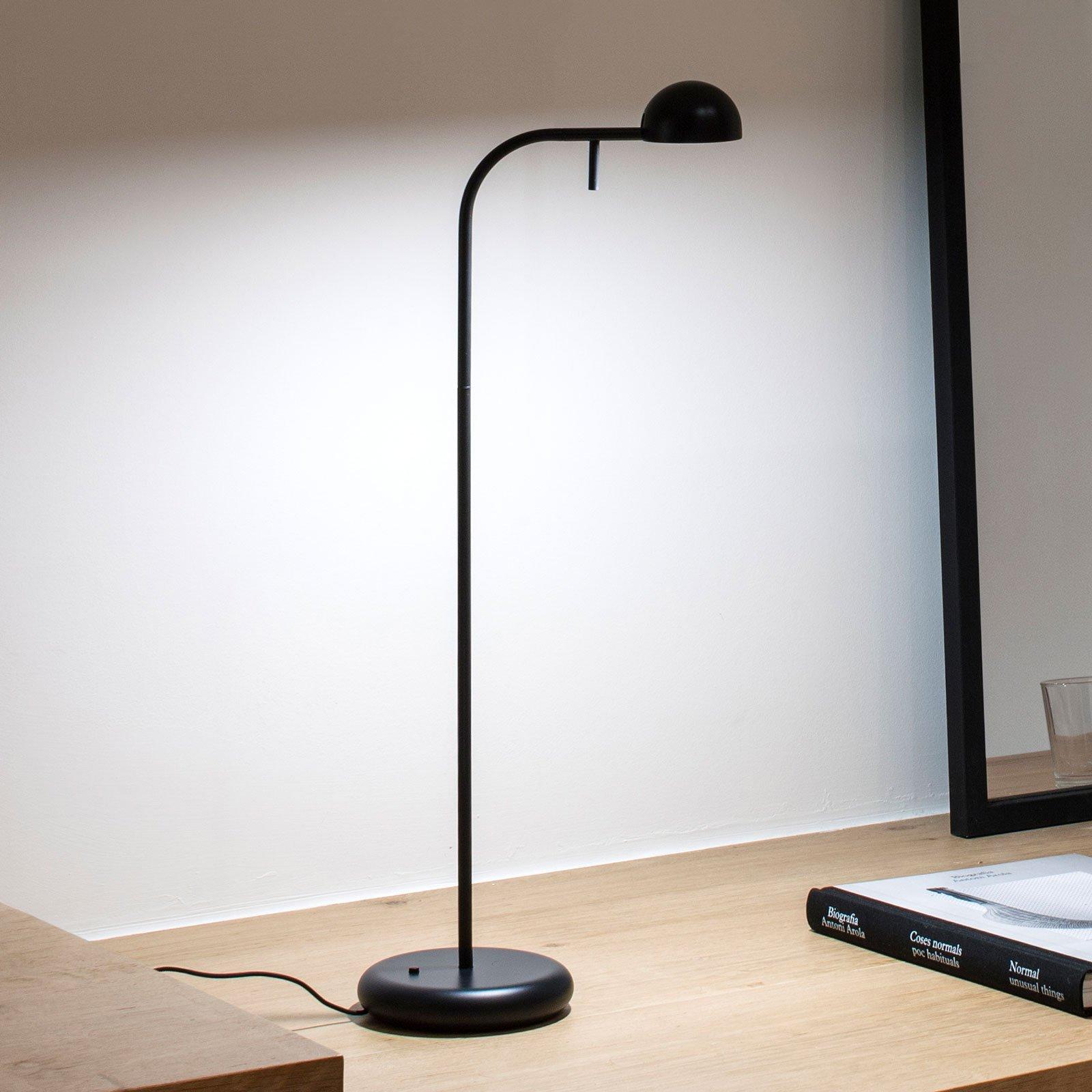 Vibia Pin 1650 LED-bordlampe, lengde 23 cm, svart