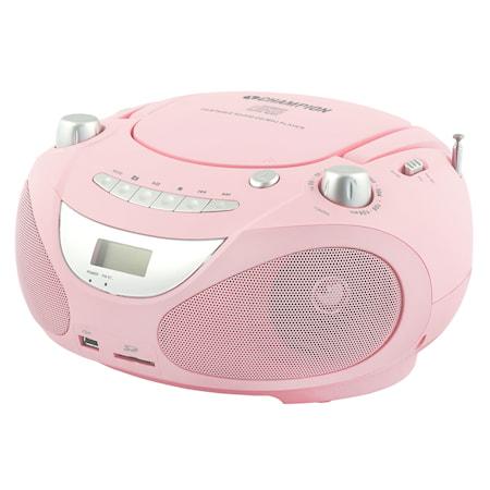 Boombox CD/Radio/MP3/USB Pink
