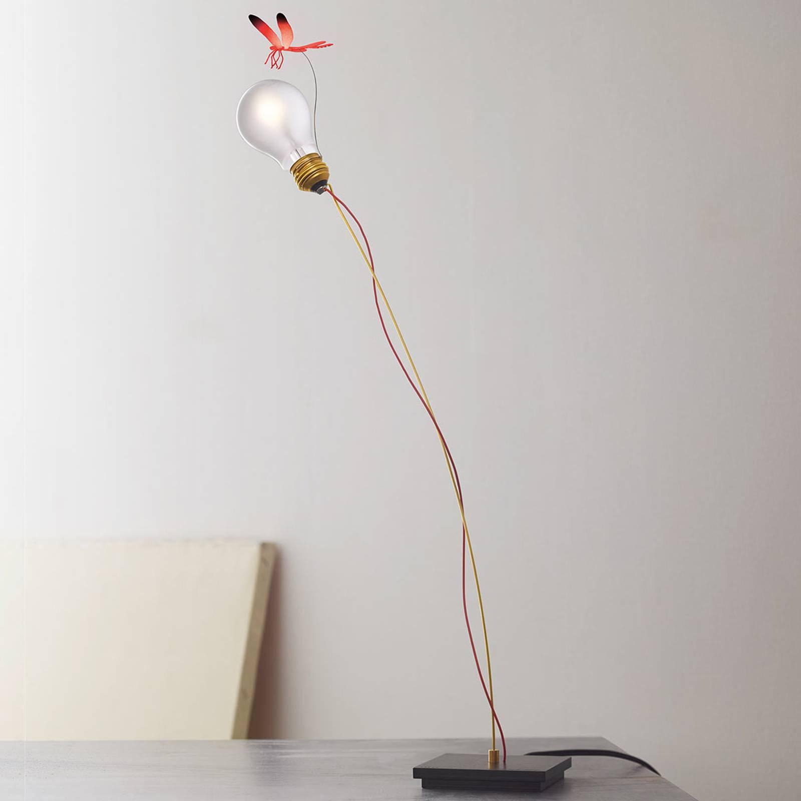 Bordlampe I Ricchi Poveri Bzzzz - rød libelle