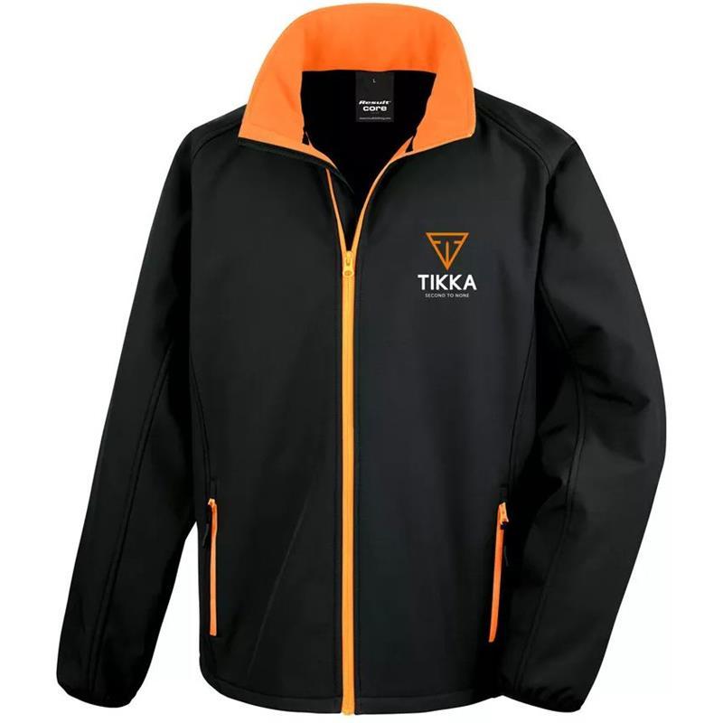 Tikka Softshell Jakke XL Svart/Oransje