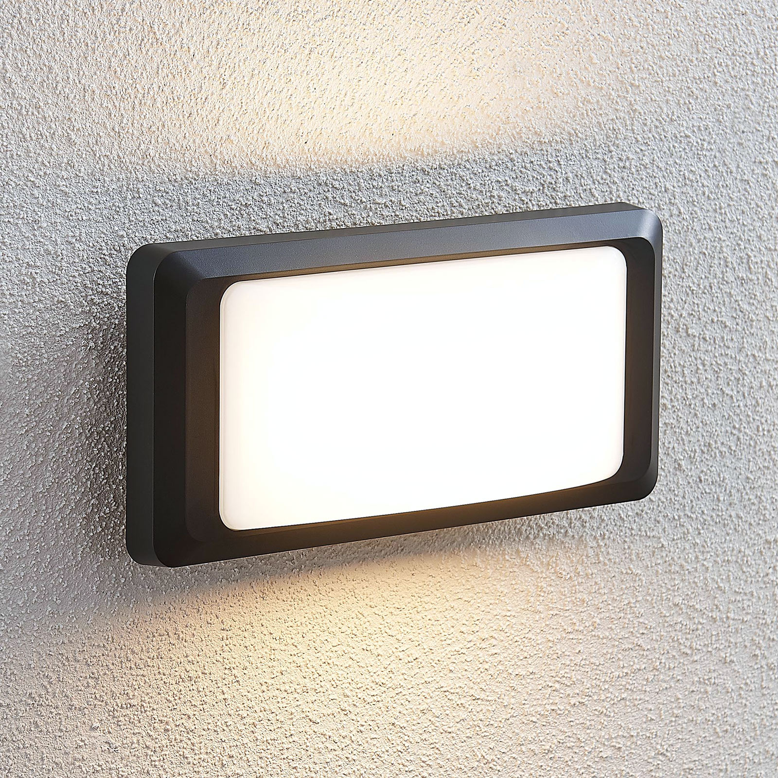 LED-ulkoseinälamppu Iskia, ilman raitaa