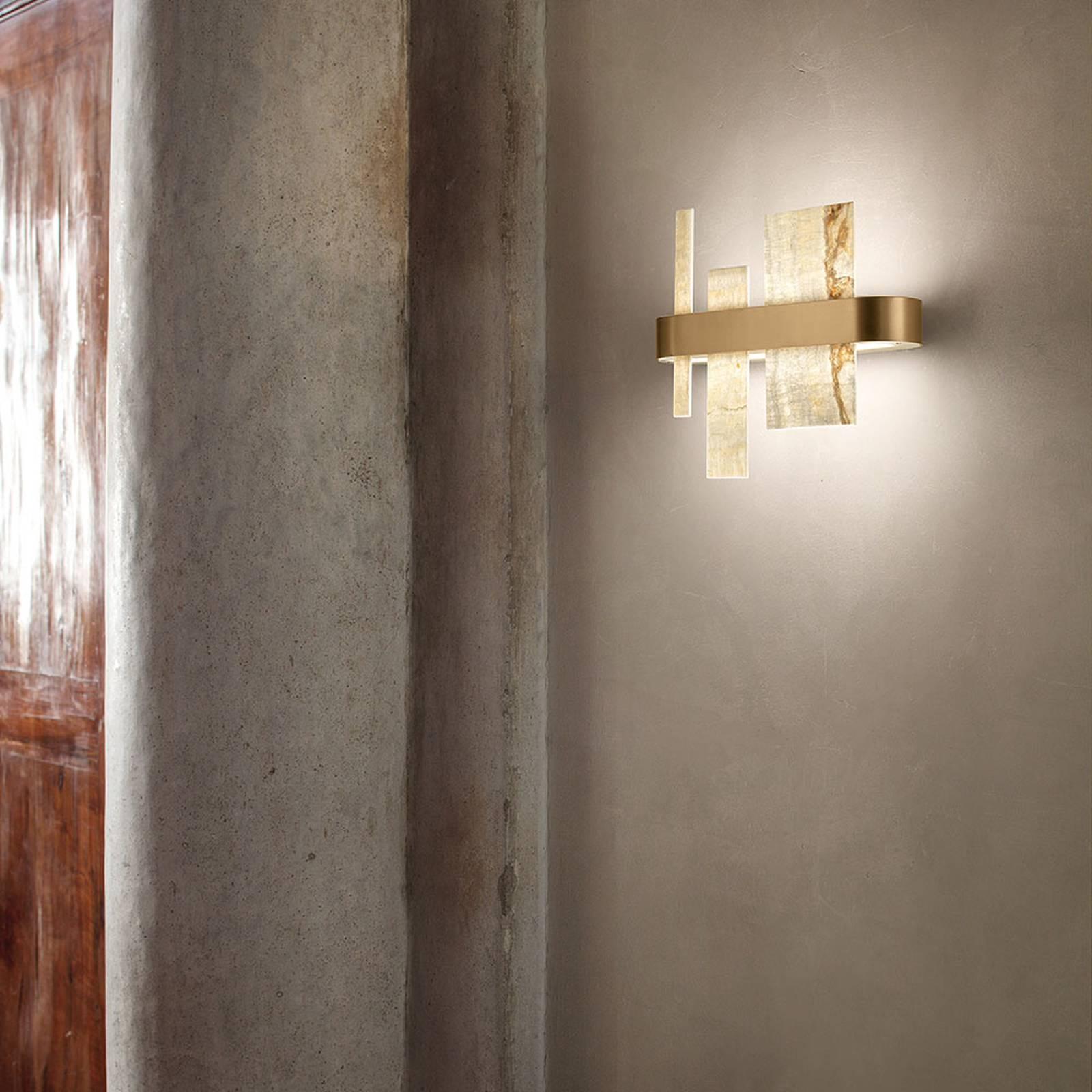 Design-seinävalaisin Honicé LED-valoilla, 37 cm