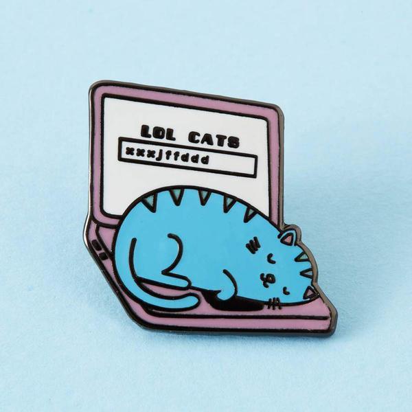 LOL Cats Laptop Enamel Pin