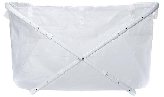 BiBaBad Flexi Sammenleggbart Badekar 80-100 cm, Transparent