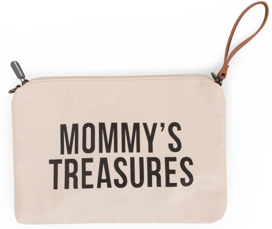 Childhome Mommy Clutch, Off White/Black