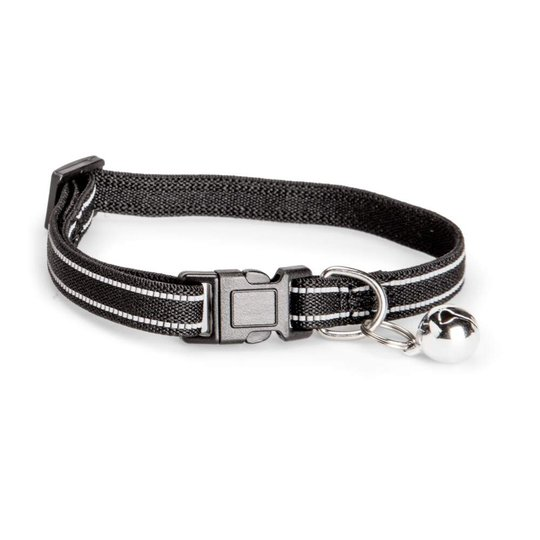 Basic Cat Elastic Reflective Halsband (Svart)