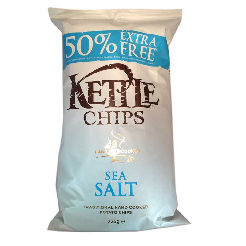 Kettle Chips Sea Salt - 47% rabatt