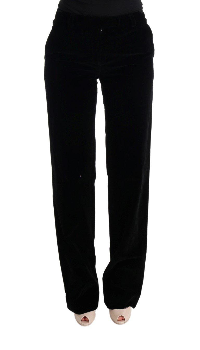 Ermanno Scervino Women's Regular Fit Formal Trouser Black SIG30328 - IT40 S