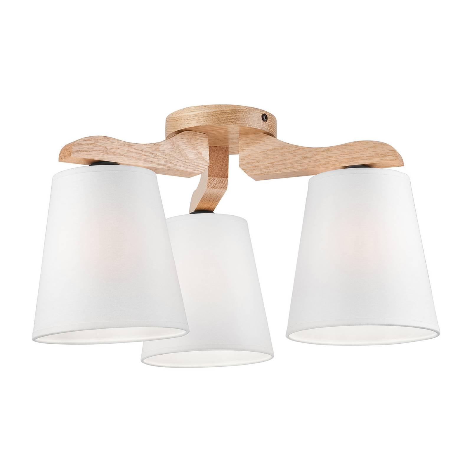 Kattovalaisin Hora, tammi/valkoinen, 3-lamppuinen