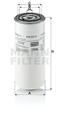 Polttoainesuodatin MANN-FILTER WDK 962/16
