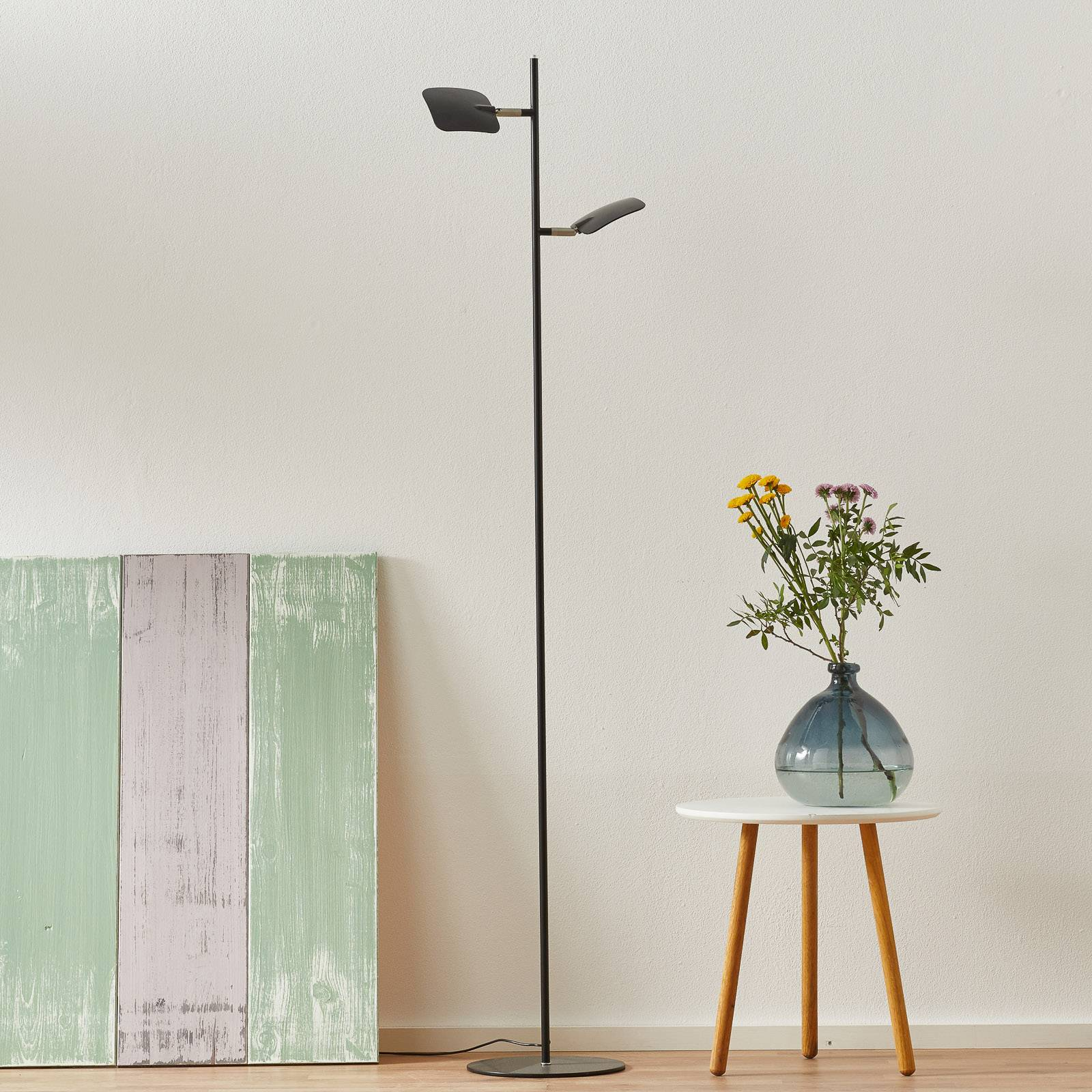 LED-lattiavalo Raggio, 2-lamppuinen, musta