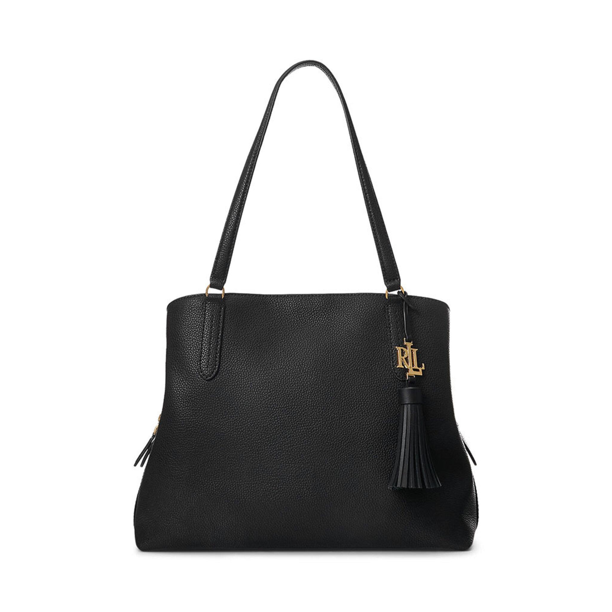 Leather Large Quinn Shoulder Bag, OSZ