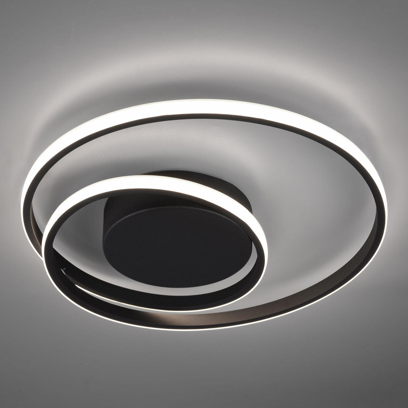 LED-kattovalaisin Zibal, himmennettävä, musta