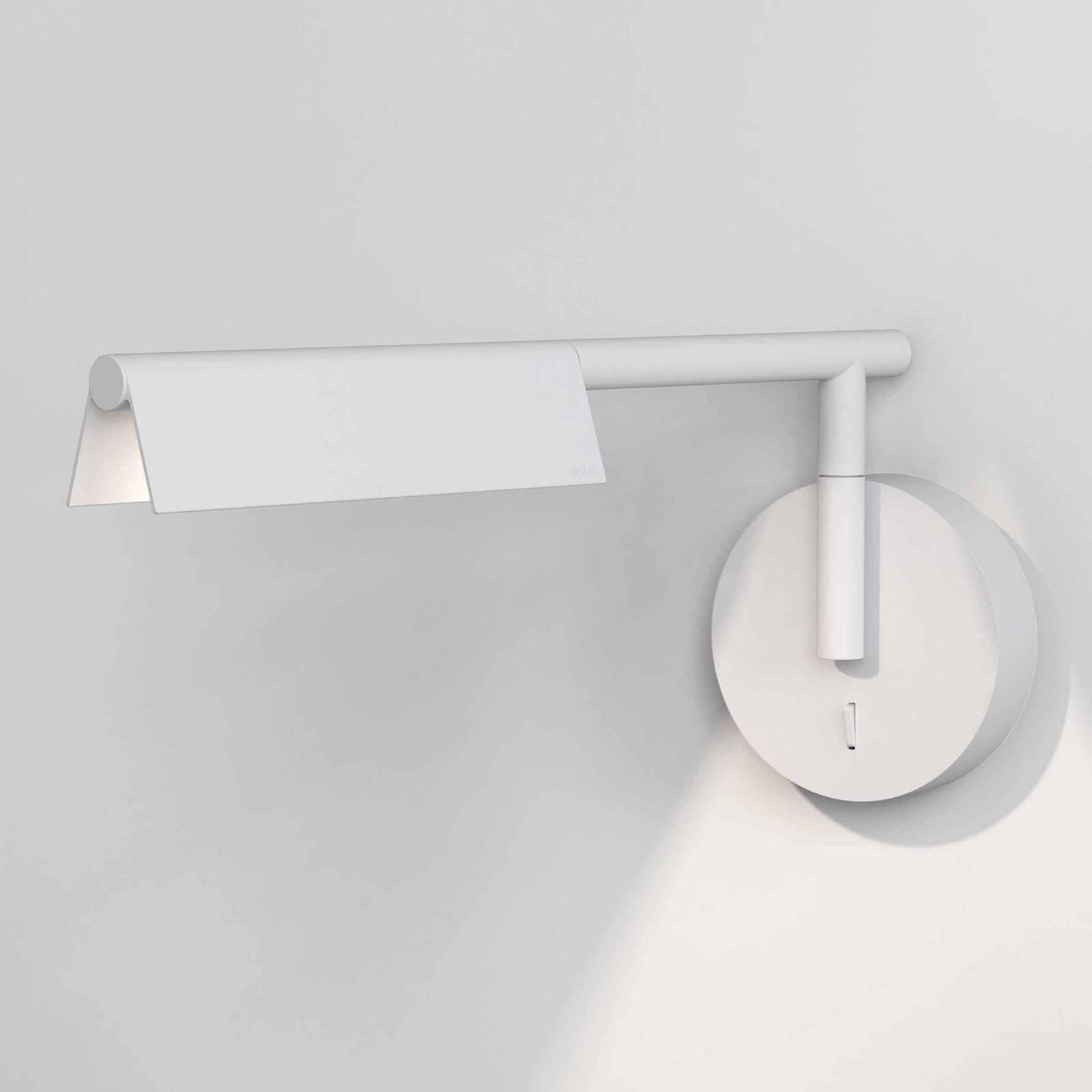 Astro Fold LED-vegglampe med bryter, matt hvit