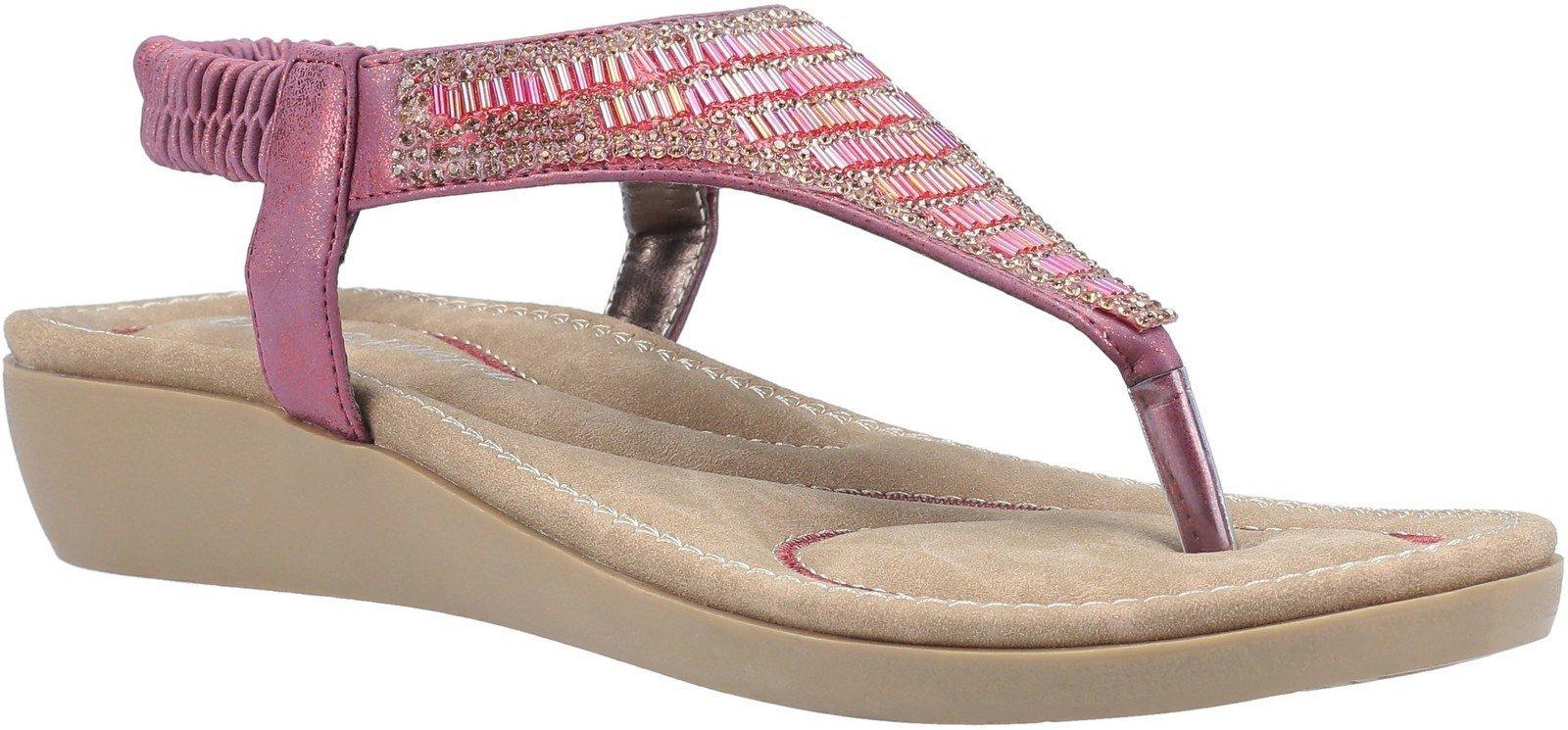 Fleet & Foster Women's Lianne Slip On Sandal Various Colours 30098 - Bordo 3
