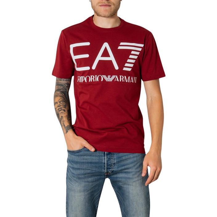 Ea7 Men's T-Shirt Bordeaux 273475 - bordeaux L