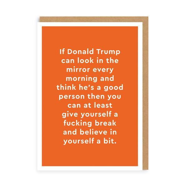 Donald Trump Mirror Greeting Card