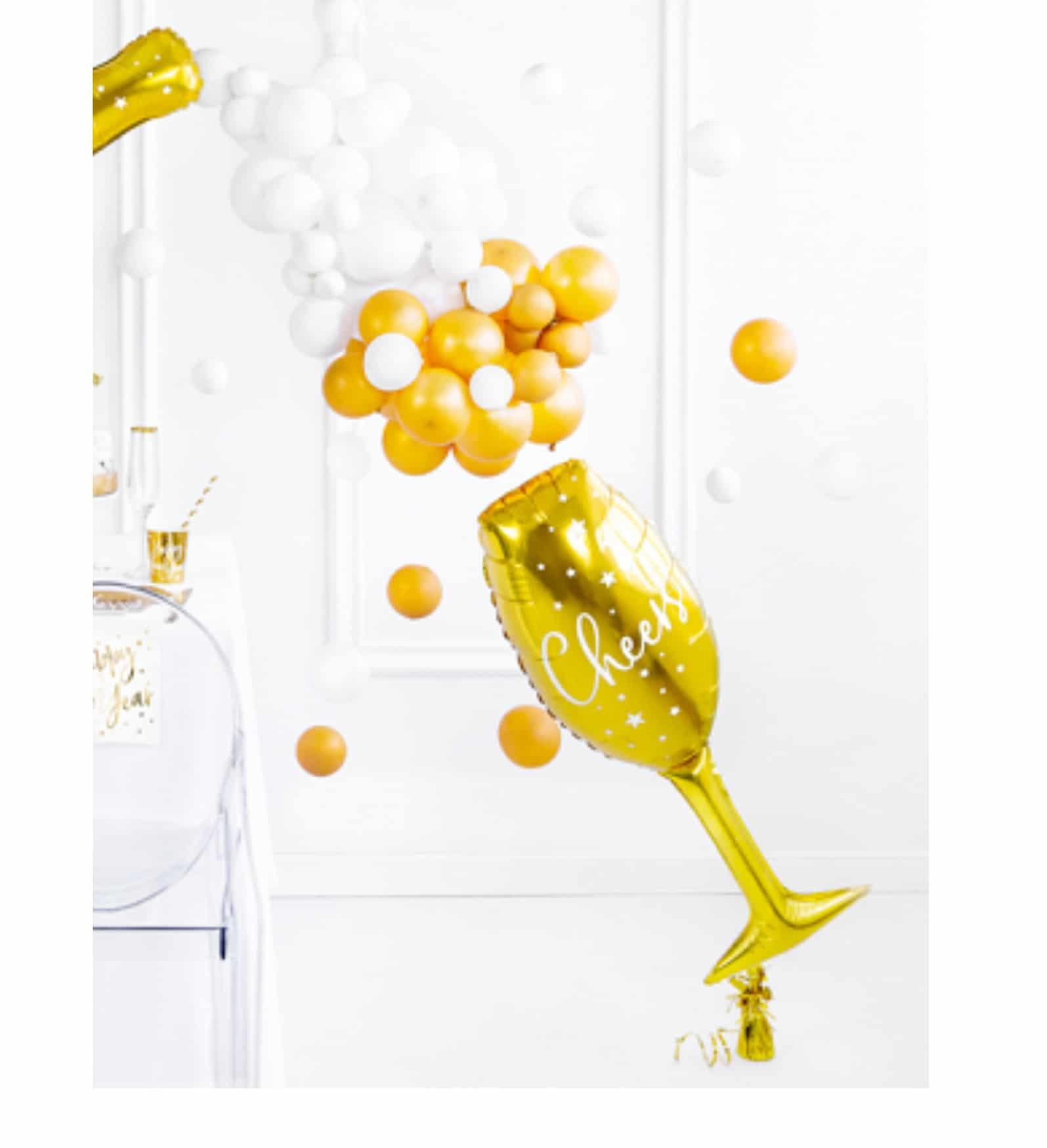 Heliumballong champagneglas