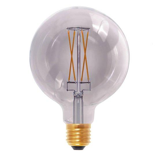 E27 6W 920 -LED-globe-lamppu smokey grey