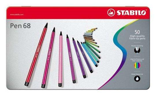 STABILO Filtspisspenner Premium 50-pack I Metalletui