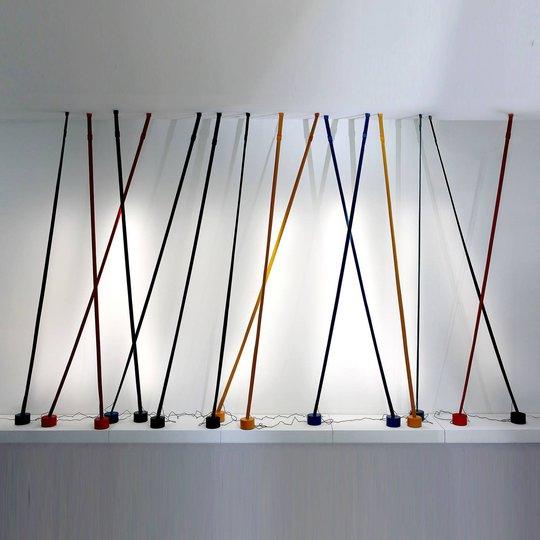 Martinelli Luce Elastica gulvlampe som bånd, gul