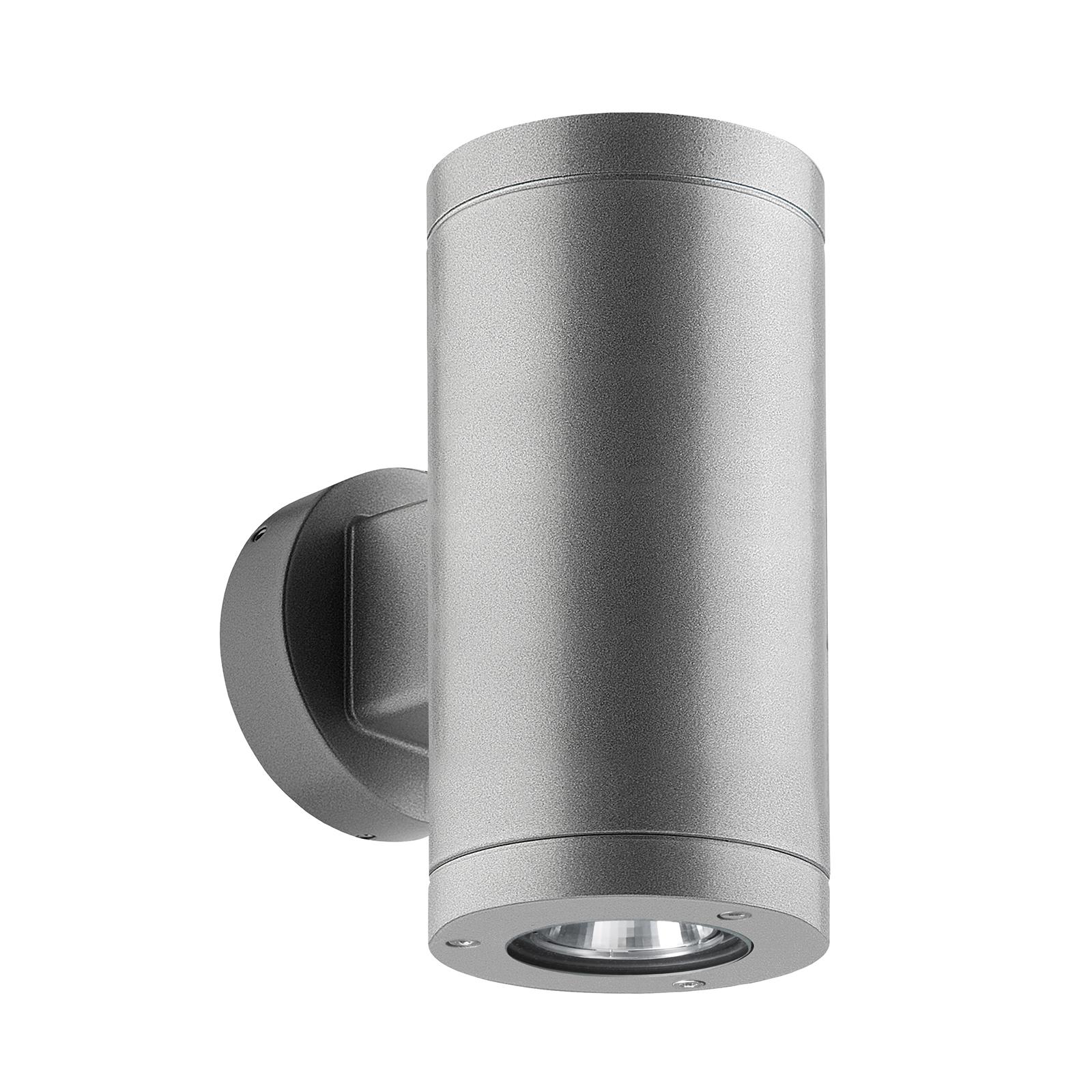 LED-ulkoseinälamppu 1067 up/down, hopea 54°/54°