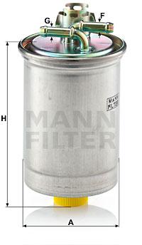 Polttoainesuodatin MANN-FILTER WK 823