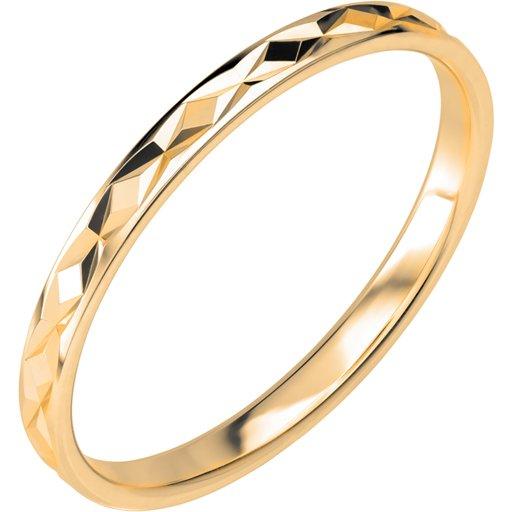 Förlovningsring i 18K guld 2mm, 63