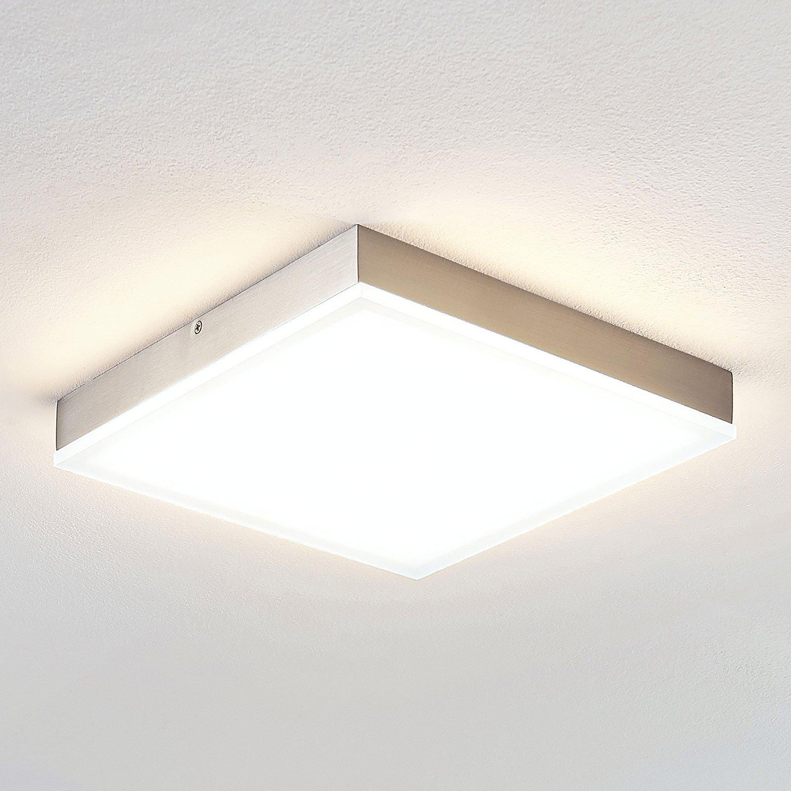 Lindby Tamito LED-taklampe, nikkel, 25 cm