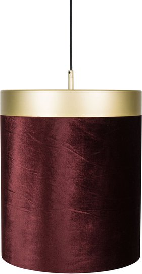 Globen Lighting Pendel Velvet, Rød