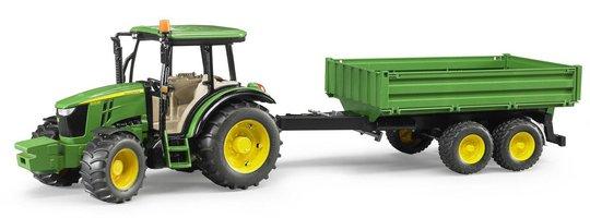 Bruder John Deere 5115M Traktor Med Tilhenger 02108