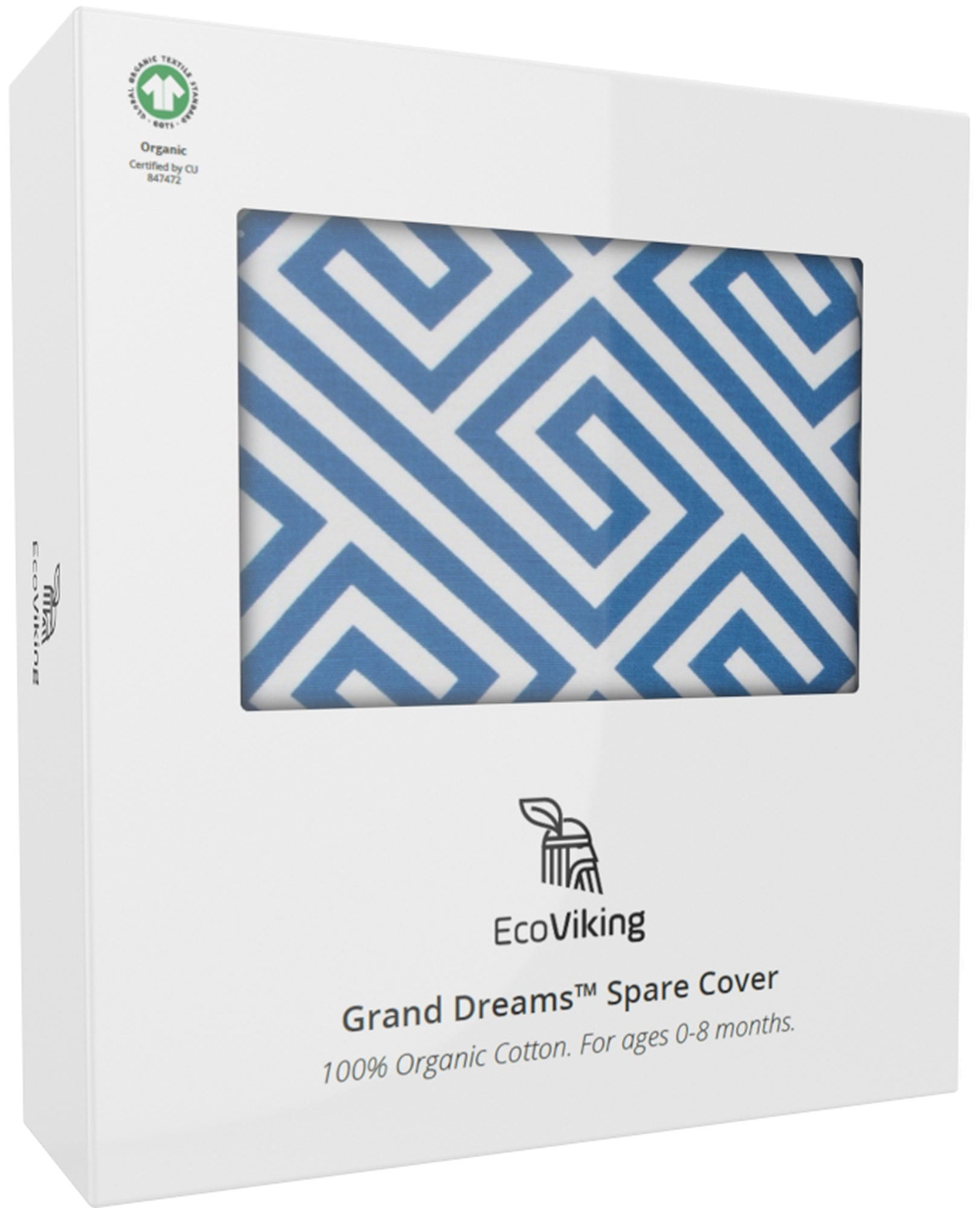 EcoViking Organic Babynest Cover Ancient Blue