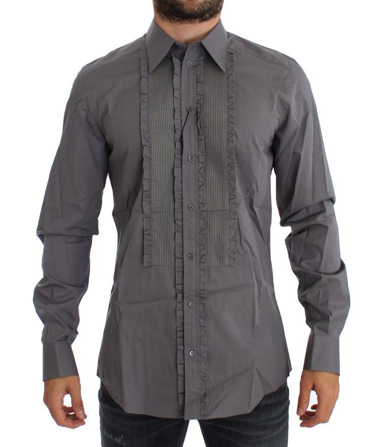 Dolce & Gabbana Men's Torero GOLD Slim Fit Shirt Purple GTT10326 - 44