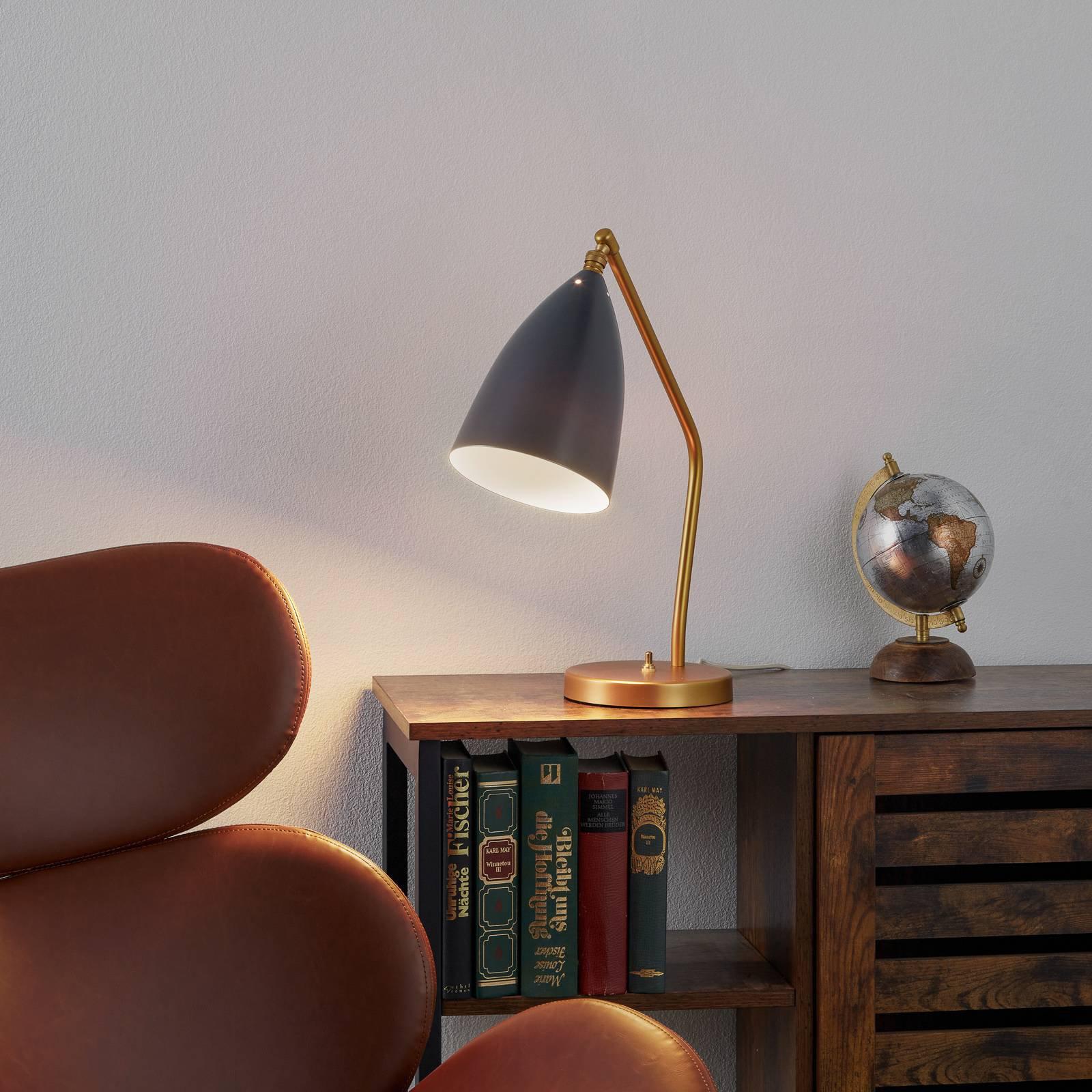 GUBI Gräshoppa bordlampe, antrasitt