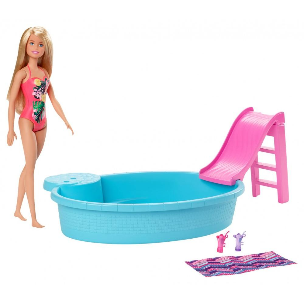 Barbie - Doll and Pool Playset (GHL91)