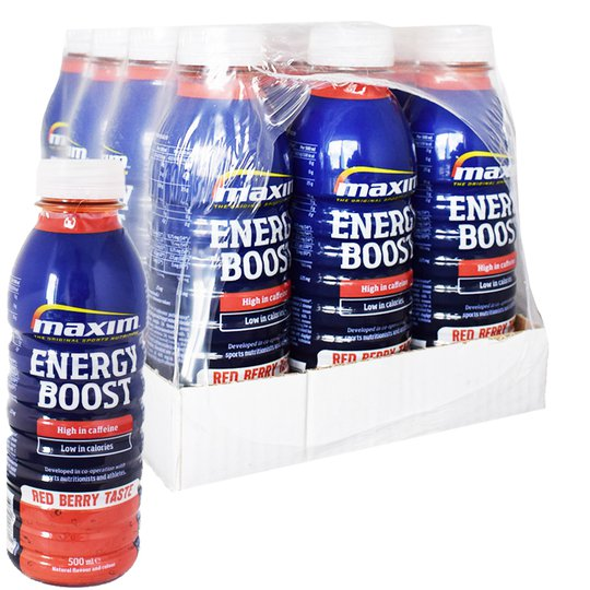 "Hel Låda Energidryck ""Red Berry"" 12 x 500ml - 38% rabatt"