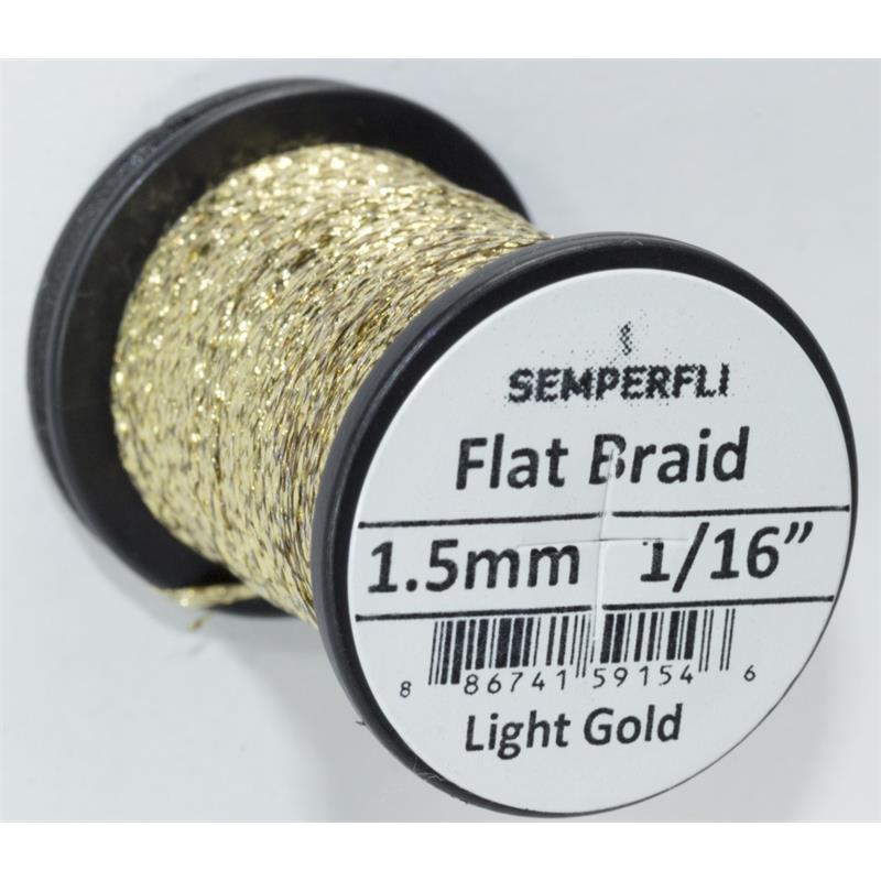 Semperfli Flat Braid 1,5mm Light Gold