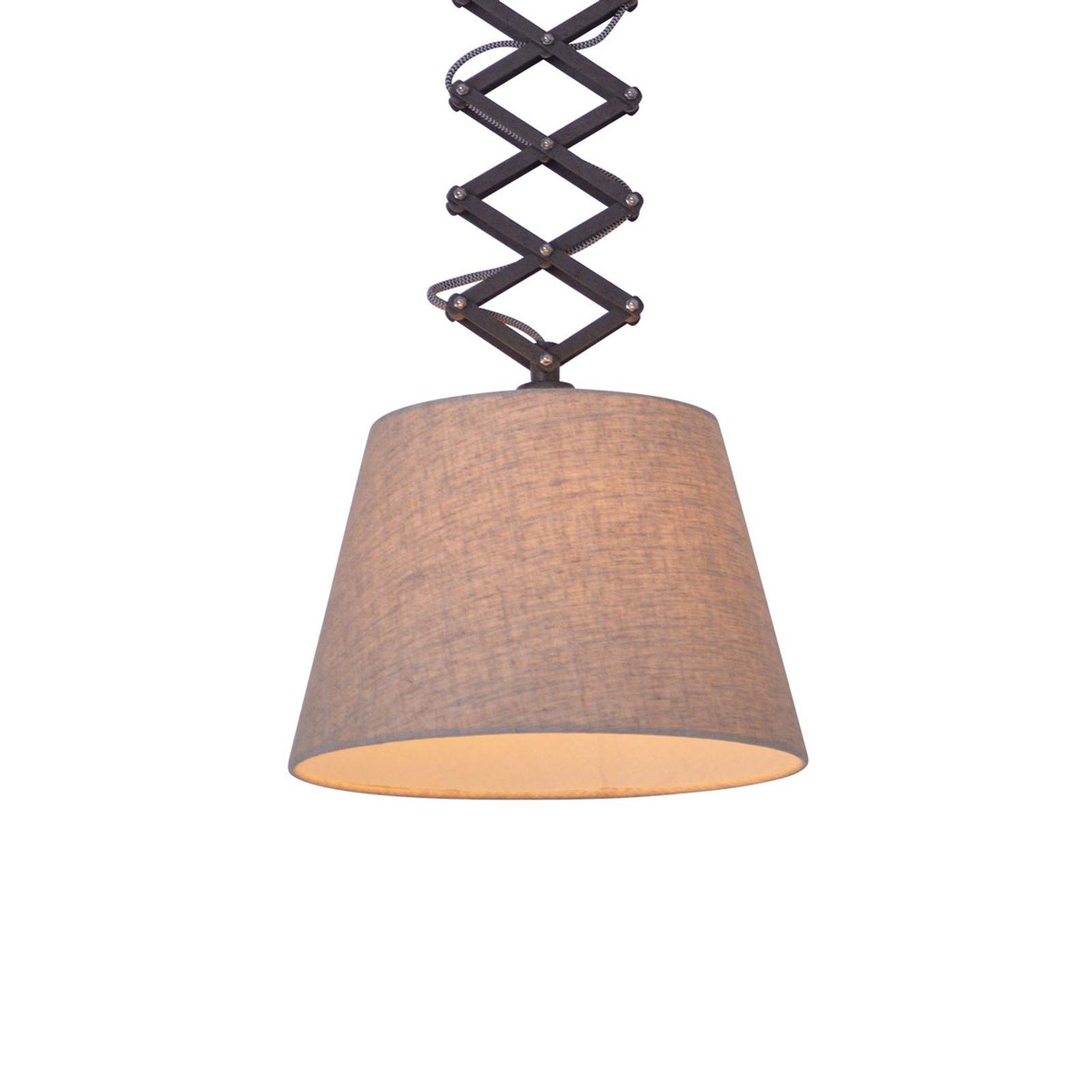Adrienne tekstil-taklampe høydejusterbar