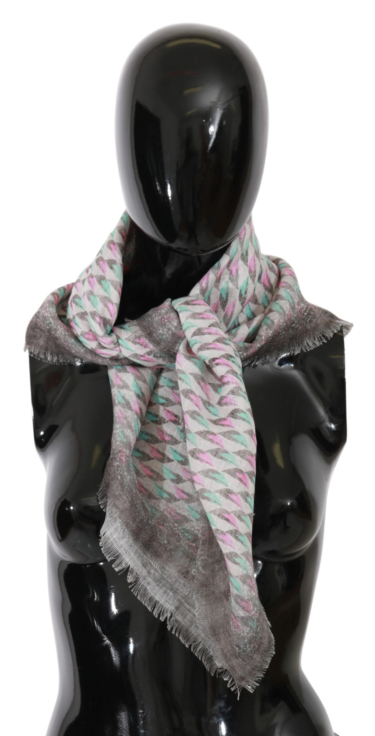 Costume National Women's Printed Neck Wrap Scarf Multicolor MS1505