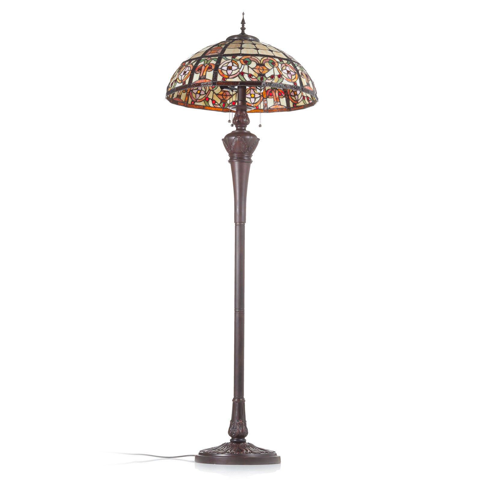 Luksuriøs stålampe Lindsay i Tiffany-stil