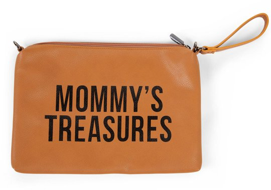 Childhome Mommy Clutch, Leatherlook Brown