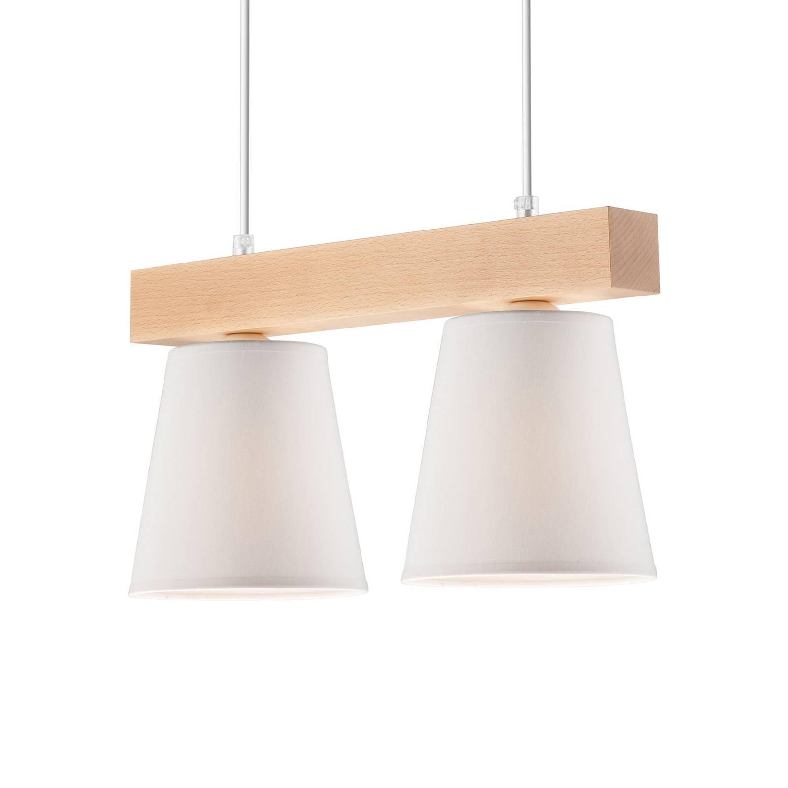 Riippuvalo Aldonn kangasvarjostimella 2-lamppuinen