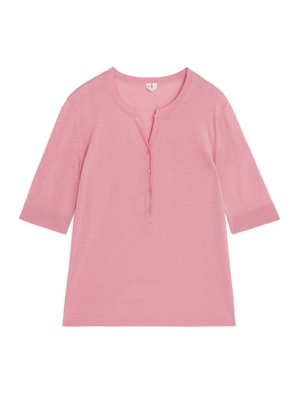 Merino Henley Top - Pink