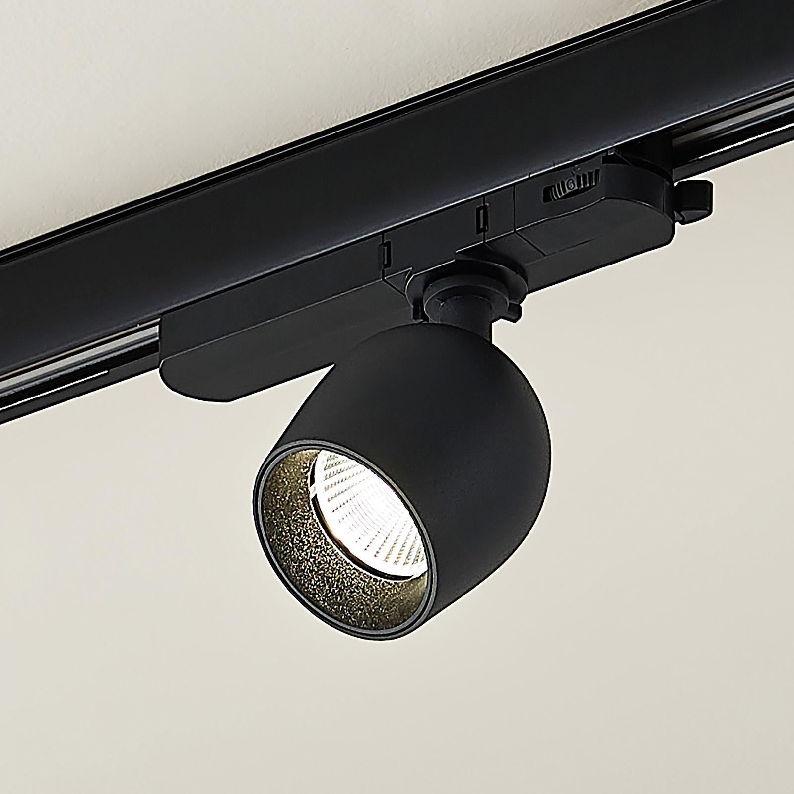 Arcchio Bartu -LED-kiskovalo, musta 4 000 K