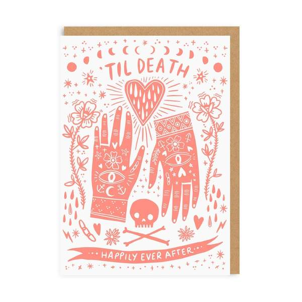 Til Death Happily Ever After Wedding Greeting Card