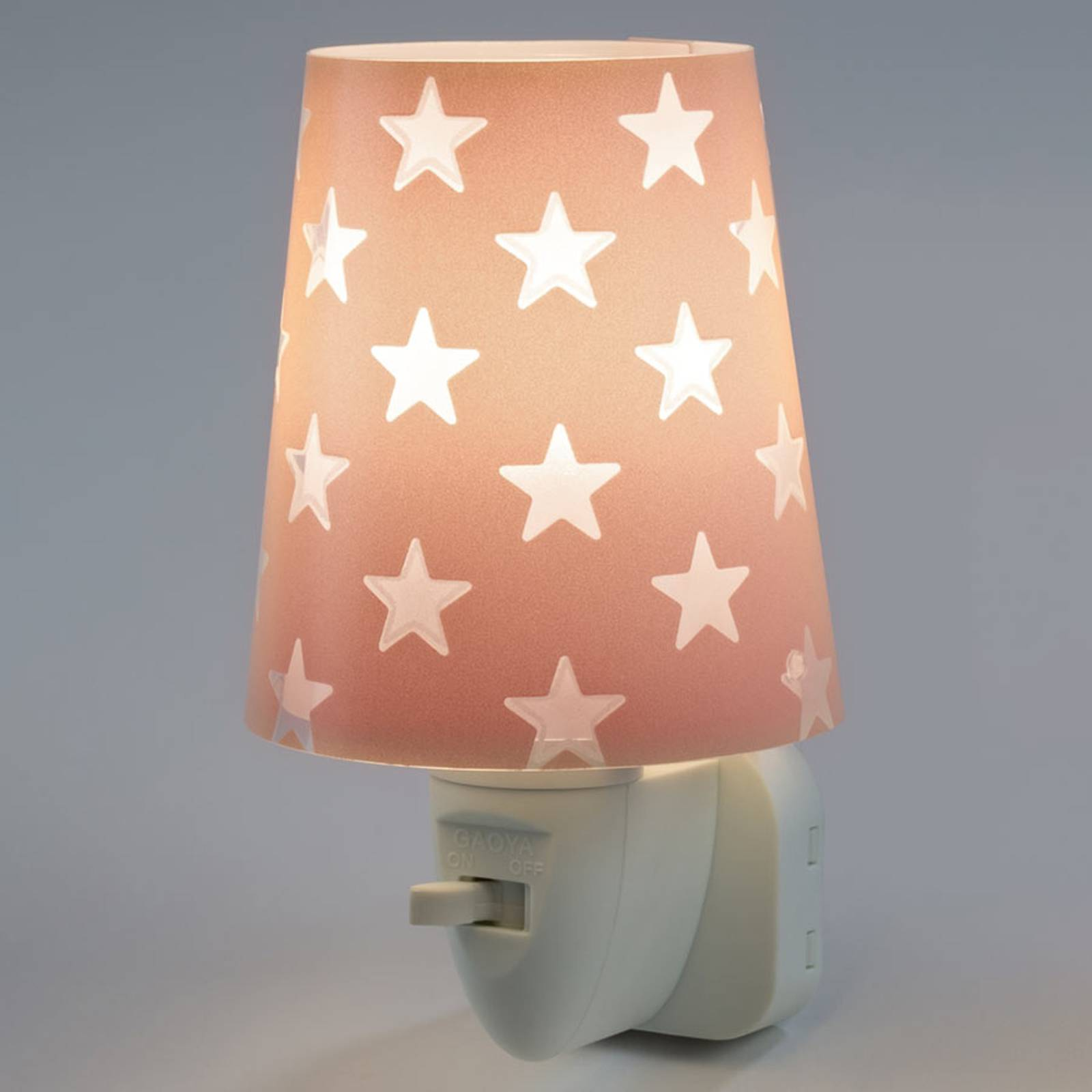 Stars - LED-yövalo, oranssi, kytkin