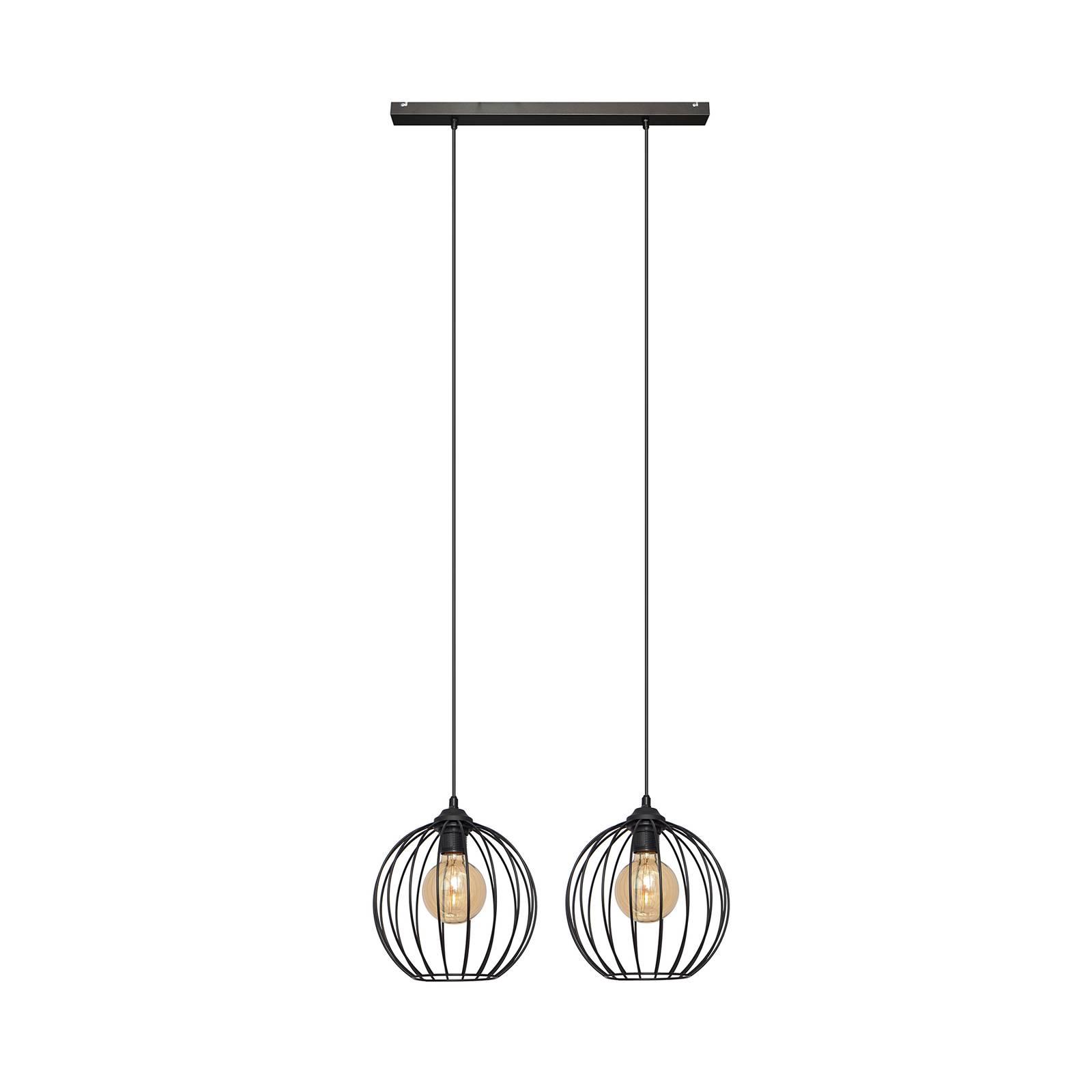 Riippuvalo Cumera 2-lamppuinen, varjostin - Ø24 cm